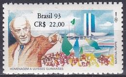 Brasilien Brasil 1993 Geschichte History Persönlichkeiten Politiker Politicians Guimarães Nationalkongress, Mi. 2546 ** - Brasilien