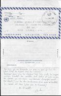 1995 - BOSNIE : ATTAQUE Du MONT IGMAN - LETTRE AEROGRAMME De L'ONU : TEXTE ! => BASE AERIENNE De ISTRES - Militärstempel Ab 1900 (ausser Kriegszeiten)