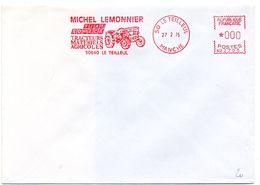 MANCHE - Dépt N° 50 = LE TEILLEUL 1975 = EMA Illustrée D'un TRACTEUR = Ets LEMONNIER / FIAT SOMECA - Marcophilie (Lettres)