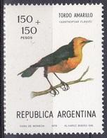 Argentinien Argentina 1978 Tiere Fauna Animals Vögel Birds Oiseaux Pajaro Uccelli Stärlinge, Mi. 1349 ** - Argentinien