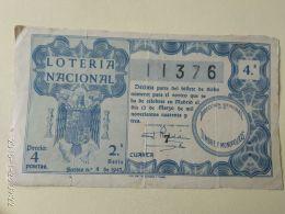 Lotteria Nazionale Spagnola  1943 - Spagna