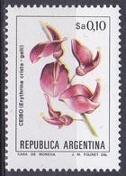 Argentinien Argentina 1982 Blumen Flora Flowers Fleur Flor Fiore Blüten Korallenbaum Coral Tree Baum Bäume, Mi. 1561 ** - Argentinien
