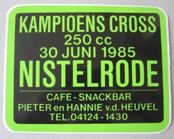 MOTORCROSS 1985 - Autocollant Sticker Decal Adhesivo - Moto Motor Motorcycle Motard Cross Motorcross Nistelrode - Autocollants