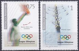 Argentinien Argentina 1996 Sport Spiele Olympia Olympics Atlanta Fackel Torch Rudern Rowing, Mi. 2305-6 ** - Argentinien
