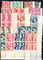 France 18 Blocs De 4 Coins Datés Neufs ** MNH 1945/1949. Bonnes Valeurs. B/TB. A Saisir! - 1940-1949