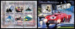 GUINEA BISSAU 2005 - J. Verne, Cars - YT 1750-5 + BF225 - Cars