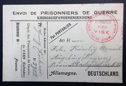 CP PRISONNIER DE GUERRE Allemand Dépôt De CAEN Octobre 1916 Franchise Militaire Des P.G. - Cartes De Franchise Militaire