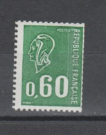 FRANCE / 1974 / Y&T N° 1815a ** : Béquet 60c Gravé (roulette Gomme Tropicale Avec PHO) - Gomme D'origine Intacte - France