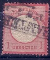 GERMANIA  IMPERO - DEUTSCH REICH  - 1872 FRANCOBOLLO DA 1 GROSCHEN  USATO . - Allemagne