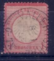 GERMANIA  IMPERO - DEUTSCH REICH  - 1872 FRANCOBOLLO DA 1 GROSCHEN  USATO  2°TIPO - Allemagne