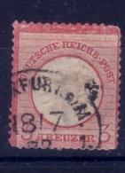 GERMANIA  IMPERO - DEUTSCH REICH  - 1872 FRANCOBOLLO DA  3  KREUZER USATO  2°TIPO - Allemagne