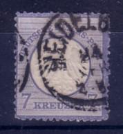 GERMANIA  IMPERO - DEUTSCH REICH  - 1872 FRANCOBOLLO DA  7 KREUZER USATO  2°TIPO - Allemagne