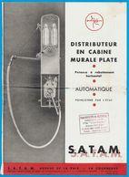 Feuillet Publicitaire Distributeur D' Essence En Cabine Murale S.A.T.A.M. 93 La Courneuve  * Voiture Auto Pompe à - Automobile
