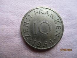 France: Sarre 20 Francs 1954 - Sarre (1954-1955)
