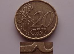N. 45 ERRORE EURO !!! 20 CT. 2002 J GERMANIA ESUBERO SUL VALORE !!! - Errores Y Curiosidades
