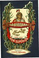 Etiquette De Liqueur: RHUM LA AFRICANA. 10,5 X 16,5 Cms (114004) - Rhum