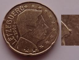 N. 8 ERRORE EURO !!! 20 CT. 2008 LUSSEMBURGO ESUBERO METALLO NASO !!! - Errors And Oddities