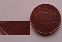 N. 58 ERRORE EURO !!! 1 CT. 2011 ITALIA SENZA R E STELLA !!! RARA - Abarten Und Kuriositäten