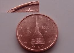 N. 11 ERRORE EURO !!! 2 CT. 2009 ITALIA ESUBERO SUL BORDO !!! RARA - Errores Y Curiosidades