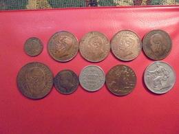ITALIE ENTRE 1861 Et 1923 JOLI LOT 10 MONNAIES - Coins & Banknotes