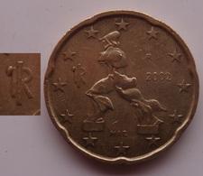 N. 65 ERRORE EURO !!! 20 CT. 2002 ITALIA ESUBERO LEGGENDA !!! - Varietà E Curiosità