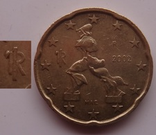 N. 65 ERRORE EURO !!! 20 CT. 2002 ITALIA ESUBERO LEGGENDA !!! - Errors And Oddities