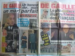 Ici Paris 17 23 Novembre 1970 Numéro Spécial De Gaulle Général Président Militaire République - Journaux - Quotidiens