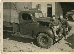 Soldat Armée Belge à Gembloux 1949  Vieux Camion Photo 10 X 7 - Décès