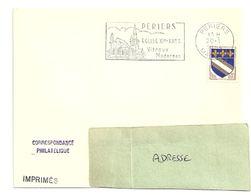 MANCHE - Dépt N° 50 = PERIERS 1964 = FLAMME Non Codée = SECAP Illustrée ' EGLISE / VITRAUX MODERNES ' - Postmark Collection (Covers)