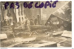 LUCHON - INONDATIONS DU 22 JUILLET 1925 AVENUE DE LA GARE - SUPERBE CARTE PHOTO - Luchon