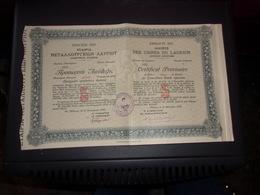 USINES DU LAURIUM (athenes,grece)  Certificat Provisoire - Unclassified
