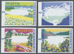 """** Thematik: Alpen / Alps: 1996, Switzerland Machine Labels, """"Swiss Countryside During The Seasons"""", Al - Stamps"""