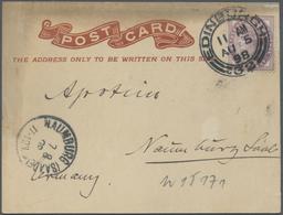 Br Thematik: Antarktis / Antarctic: 1898: German Valdivia Deap-Sea-Expedition. Post Card From Edinburgh - Polar Philately