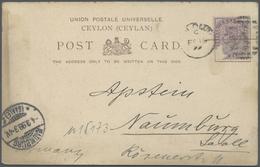 Br Thematik: Antarktis / Antarctic: 1899: Deutsche Valdivia Tiefsee-Expedition. Postkarte Aus Colombo / - Polar Philately