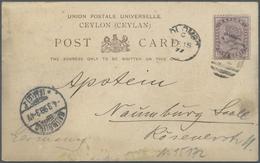 Br Thematik: Antarktis / Antarctic: 1899: Deutsche Valdivia Tiefsee-Expedition. Postkarte Aus Colombo / - Other