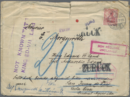 """Br Thematik: Antarktis / Antarctic: 1908/1909, Cover From """"COLMAR 26.4.08"""" To Mr. E. Morgenroth At King - Other"""