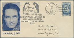 """Br Thematik: Antarktis / Antarctic: Richard E. Byrd-Expedition II: 1935, Flight Cover From """"LITTLE AMER - Other"""