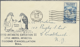 Br Thematik: Antarktis / Antarctic: Byrd Antarctic Expedition II, 1935, Schmuckumschlag Mit 2 Pinguinen - Polar Philately