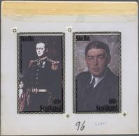 Thematik: Antarktis / Antarctic: 1980 (ca.), BRITISH LOCAL ISSUE: Pictures Of Paintings From Captain - Polar Philately