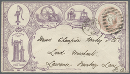 """GA Thematik: Anzeigenganzsachen / Advertising Postal Stationery: 1865, QV 1 D. Red """"JOHN WARNER&SONS HY - Stamps"""