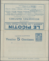 GA Thematik: Anzeigenganzsachen / Advertising Postal Stationery: 1887, France. Advertising Letter Card - Stamps