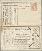 GA Thematik: Anzeigenganzsachen / Advertising Postal Stationery: 1891, Argentina. Advertising Letter Ca - Stamps