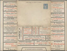 GA Thematik: Anzeigenganzsachen / Advertising Postal Stationery: 1899, France. Lettre Annonces Lyon (S. - Stamps