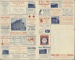 GA Thematik: Anzeigenganzsachen / Advertising Postal Stationery: 1905, Bavaria. Advertising Folded Lett - Stamps