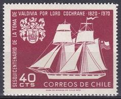 Chile 1970 Geschichte History Schiffe Ships Segelschiffe Sailing Ship Valdivia Cochrane Wappen Arms, Mi. 723 ** - Chile