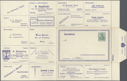 GA Thematik: Anzeigenganzsachen / Advertising Postal Stationery: 1905, German Empire. Advertising Lette - Stamps
