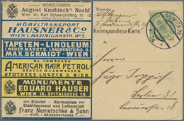GA Thematik: Anzeigenganzsachen / Advertising Postal Stationery: 1907, Austria. Colored Advertising Pos - Stamps