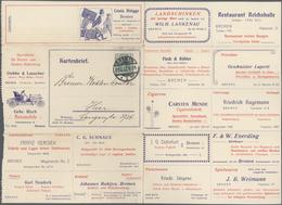 GA Thematik: Anzeigenganzsachen / Advertising Postal Stationery: 1907, German Empire. Advertising Lette - Stamps