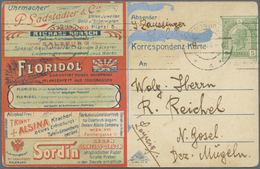 GA Thematik: Anzeigenganzsachen / Advertising Postal Stationery: 1908, Austria. Colored Advertising Pos - Stamps