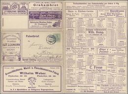 GA Thematik: Anzeigenganzsachen / Advertising Postal Stationery: 1909, German Empire. Advertising Lette - Stamps